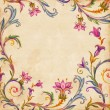Vintage floral frame — Stock Photo