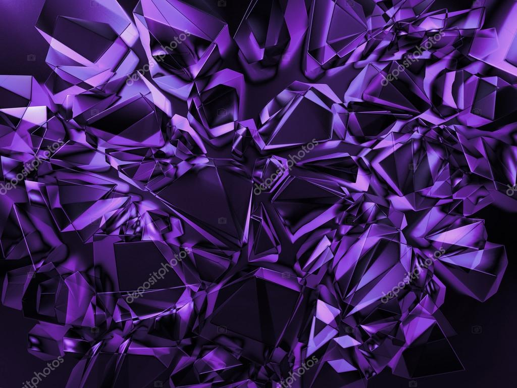 3d abstract violet purple crystal background — Stock Photo ...