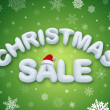 Christmas sale promotion banner — Stock Photo