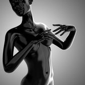 3d black woman body model — Stock Photo