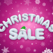 Christmas sale promoting poster — 图库照片