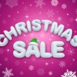 Christmas sale promoting poster — Foto Stock