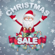 Christmas sale banner — Stock Photo