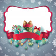 Christmas greeting banner — Stock Photo