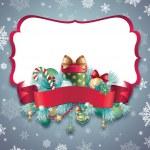 Christmas greeting banner — Stock Photo