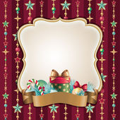 Christmas frame background — Stock Photo