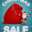 Shopping poster with Santa Claus — Stock Photo