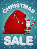 Shopping poster with Santa Claus — Foto Stock