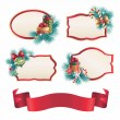 Christmas assorted banners and stickers set — Stock Photo #35481045