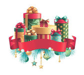 Christmas gifts boxes — Foto Stock