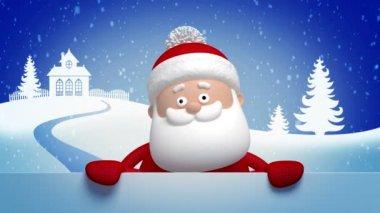 Christmas Santa Claus salutation — Stock Video