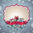 Vintage Christmas blank banner — Stock Photo #36977025