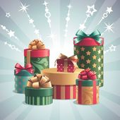 Gift boxes design elements set — Stock Photo