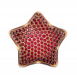 Golden star symbol with ruby crystals — Stock Photo #38608865