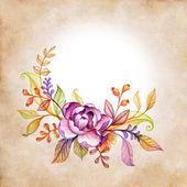 Dzikie kwiaty okrągłe ramki — Zdjęcie stockowe
