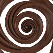 3d abstract liquid chocolate swirl — Stock Photo