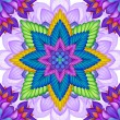 Abstract floral kaleidoscope — Stock Photo