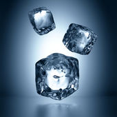 Assorted ice cubes falling — Stock Photo