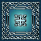 Celtic twisted design elements set — Stock Photo
