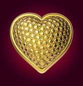 Corazón de oro 3d — Foto de Stock
