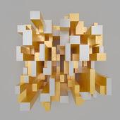 Golden fragments — Stock Photo