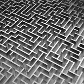 3d maze background — Stock Photo