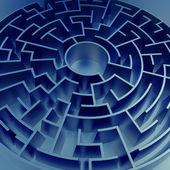 Blue maze background — Stock Photo