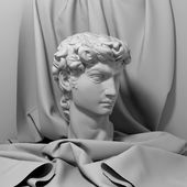 3 d のデビッド肖像彫刻 — ストック写真