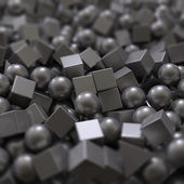 Balls and cubes — Stock Photo