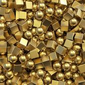 3d balls and cubes — Stock Photo