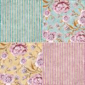Vintage floral background set — Stock Photo