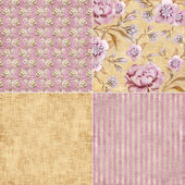 Vintage floral background set — Stock Photo