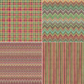 Red green abstract melange textile textures — Stock Photo