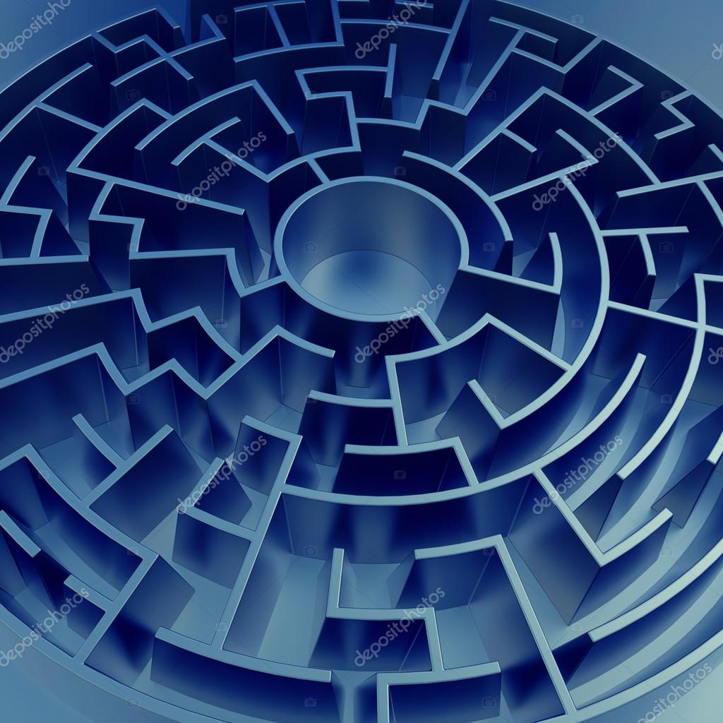 Stock Photo Blue Maze Background on File Maze Type Standard