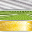 Three abstract banner — Stock Vector #13393973