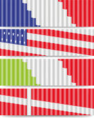 Four flags — Stock Vector