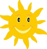 The sun with a smile — Stock Vector