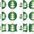 Royalty-Free Stock Vektorfiler: Sets Christmas tree