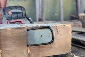 Gasoline saw — Stock Photo