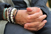 Elderly hand — Stock Photo