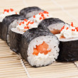 Close-up image of a japanese sushi rolls — Foto Stock