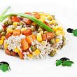 Rice with beans and vegetables - Stock Photo