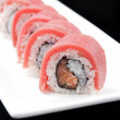 Close-up of a Japanese sushi rolls - Stock Photo
