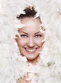 Fotomodell mit sauber gesunde Gesichtshaut — Stockfoto