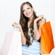 Beautiful woman with shopping bags — Stock Photo #15648451
