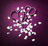 Valentine's paper decoration — Stock Photo