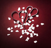 Valentine's decoration on red backround — Foto de Stock