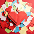 Valentine's paper hearts — Stock Photo