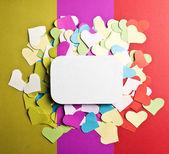 Valentine's paper hearts — Stockfoto