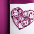 Valentine's paper heart — Stock Photo